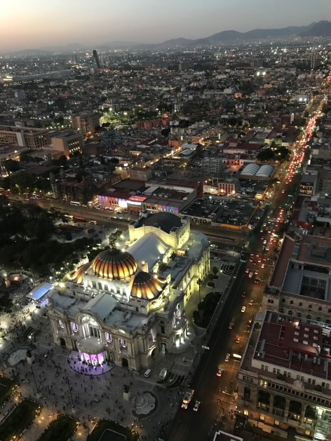 The view of Palais Bellas Artes from the Mirador